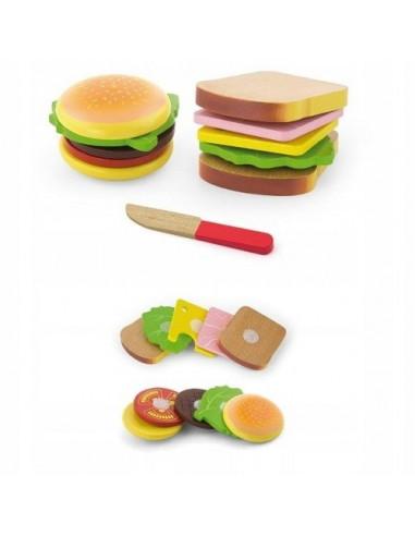 Hamburger i kanapka do krojenia
