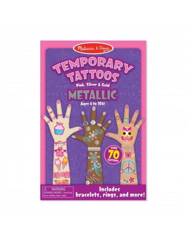 Tatuaże dla dzieci metaliczne 74 szt.