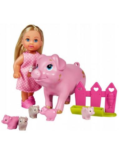 Lalka EVI z ciężarną świnką