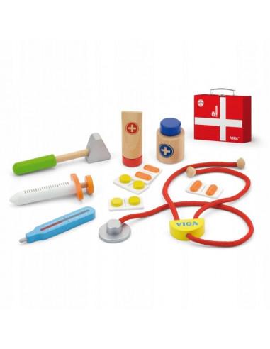 Mały lekarz- drewniany zestaw z walizką