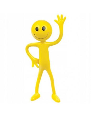 Wesoły wyginany ludzik Żółty