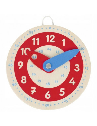 Mini zegar drewniany do nauki godzin