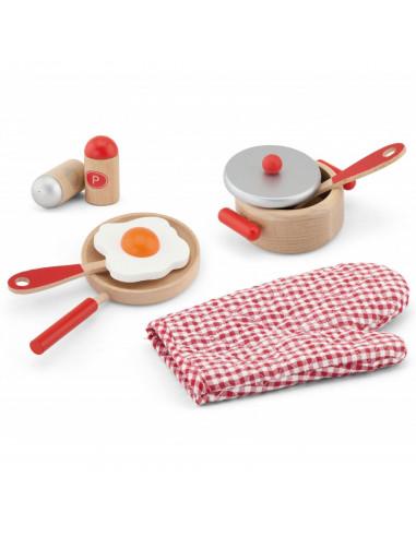 Drewniany zestaw śniadaniowy dla dzieci