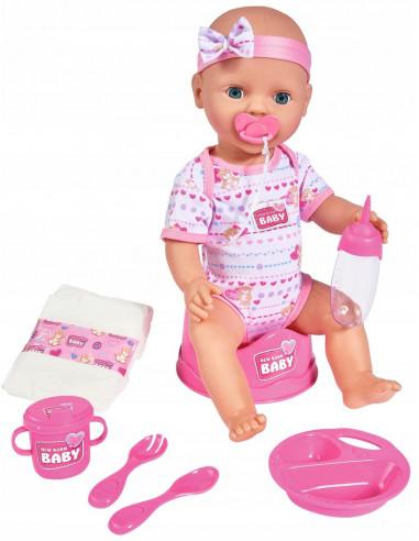 Lalka New Baby Born sikający bobas 43 cm