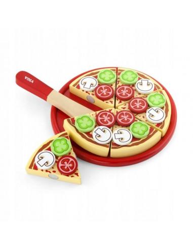 Drewniana pizza do krojenia na rzep