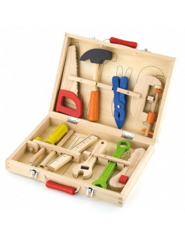 Skrzynka + narzędzia drewniane 10...